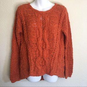 Moth Anthropologie Orange Chucky Knit Sweater